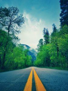 山の中の車道